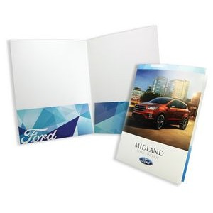 "Quick Ship Economy Printed Folder (9""x12"") printed in four color process"