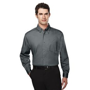 Men's Executive Cotton Twill Long Sleeve Shirt w/ Left Chest Pocket