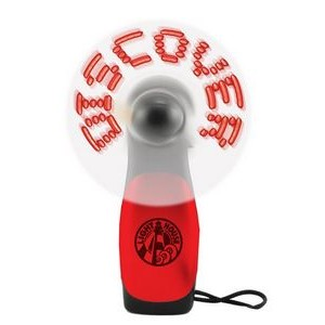 Red LED Deluxe Lighted Message Fan