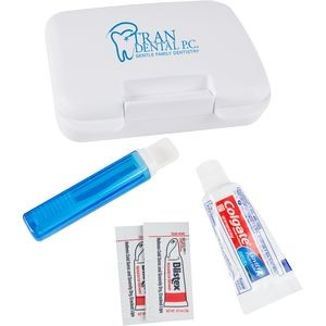 Dental Kit in a Plastic Pocket Tote